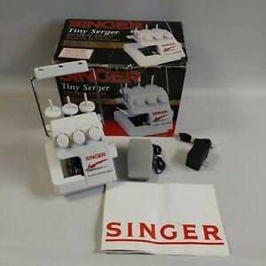 Singer Tiny Serger Overedging Machine Model TS-380 Plus W/ Box & Instructions