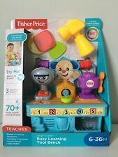 Fisher-Price Laugh and Learn Busy Learning Tool Bench - Interactive Baby Toddler