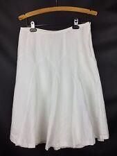 ATL Ann Taylor Loft Linen Blend Godet Skirt White Size 8