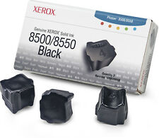 New Xerox Phaser 8500/8550 Black Solid Ink Opened Box-of-3 108R00668 Genuine OEM