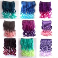 Two Tone One Piece Curl/curly/wavy Thick Gradient Hair Ombre Clip on extension