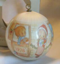 Vintage Hallmark Christmas 1978 Betsey Clark Satin Ball Ornament