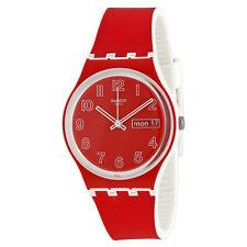 Swatch Poppy Field Red Dial Mens Quartz Watch GW705