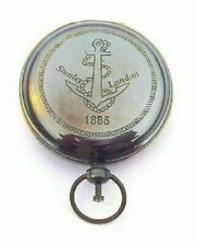 Brass Push Button Direction Pocket Nautical Compass- Antique Compass lover Gift