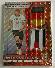 2016 Spectra Lukas Podolski #'d 5/10 Jersey International Fabrics Orange Germany