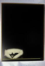 tableau noir Chat Dubout Gros dodo 30x40 édition Clouet