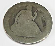 Vtg 1860 s U S Seated Half Dollar Counter Stamped Coin F. LINDE DLB Stamped Obv