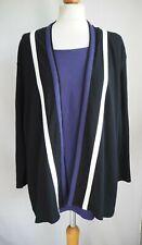 Top 22 Black Purple Cardigan Over Top