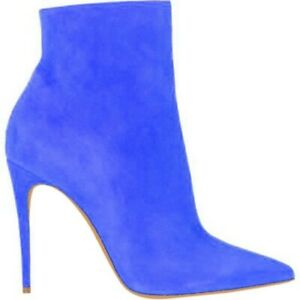 New Nightclub Ladies Colorful Pointed Toe Stiletto High Heel Zipper Ankle Boots