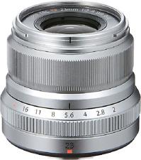 Fuji 23mm f2 R WR XF Lens - Silver