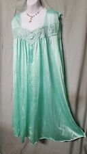 """CALF LENGTH MINT GREEN SLEEVELESS  BABYDOLL NIGHT GOWN SIZE LARGE GIFT  54"""" BUST"""