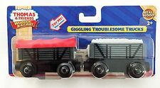 GIGGLING TROUBLESOME TRUCKS - THOMAS Tank Engine WOODEN Railway NEW IN BOX