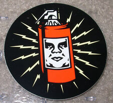 """SHEPARD FAIREY Obey Giant Sticker 2.5"""" circle SPRAY CAN from poster print"""