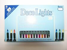Indoor 35 Multi-Color Bulb Super Bright Lights String / Strand Green Cord