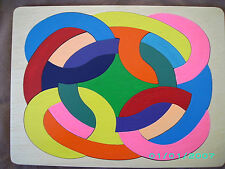 HANDMADE WOODEN ABSTRACT NO 1  PUZZLE