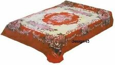 Solaron Korean Blanket throw Flowers Thick Mink Plush twin/full Licensed new