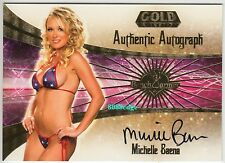 2007 BENCHWARMER GOLD EDITION AUTO: MICHELLE BAENA #16 OF 30 AUTOGRAPH PLAYBOY