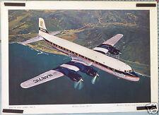 AFFICHE ANCIENNE  AVION DELTA AIR LINES DOUGLAS GOLDEN CROWN DC-7   Ci.1955-57 '