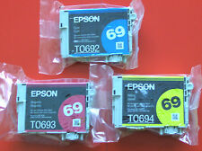 Epson GENUINE 69 Color Ink T069520 3 Pack -T0692 T069220 T0693 T0694 No Box