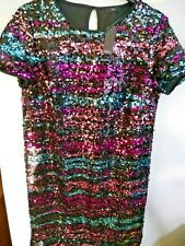 M and CO ladies multicolored sequined dress size 14 bnwt ref mx1