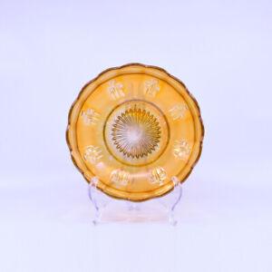 Australian Pin Ups Carnival Glass Bowl, Crown Crystal c1920's, scarce