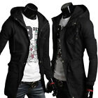 Military Men Casual Slim Long Trench Coat Outerwear Jacket Hoodies Sweatshirts