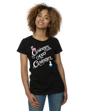 Disney Women S Alice in Wonderland Curiouser T-shirt Medium Black