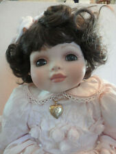 Marie Osmond Baby Marie Picture Day Toddler Peach Dress Locket Rare