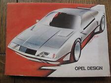 Ansichtskarten Mappe Opel DESIGN