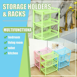 3 Tier Multi Storage Rack Shelving Shelf Unit Kitchen Bathroom Organiser Stand