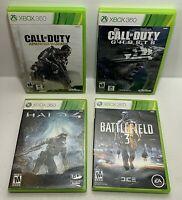 Xbox 360 Games Halo 4 Battlefield 3 Call Of Duty Ghosts Advanced Warfare