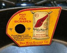 Authentic Antique Vintage Red Wing Milling Co. Special Flour Pot & Pan Scraper!
