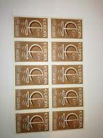 Bloc de 9 EUROPA cept andorre 1966 neuf xx  cote 44 euros