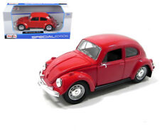Volkswagen Beetle Bug VW Red 1/24 Scale Diecast Car Model By Maisto 31926