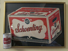 Schoenling Can and Schoenling Beer Placard Professionally Mounted Framed Vintage