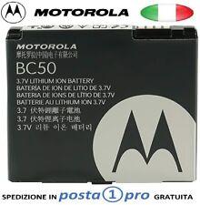 MOTOROLA BC50 BATTERIA ORIGINALE BULK PER AURA,C257,C261,L2,L6,L7 SLVR