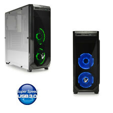 CASE PC GAMING ATX CABINET USB 3.0 CON 3 VENTOLA LED DA 12Cm SD CARD HD-AUDIO