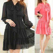 Chiffon 3/4 Sleeve Party Dresses for Women