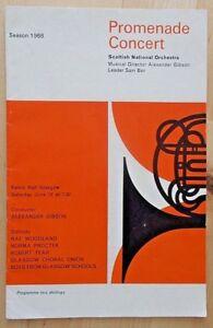 Promenade Concert programme Scottish National Opera Kelvin Hall Glasgow 6.1968