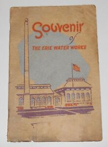 1925 A Souvenir and History of the ERIE WATER WORKS - 23-Page Booklet - Erie PA