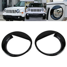 fit 2011-17 Jeep Patriot Angry Bird Style Front Headlight Lamp Cover Trim-Black