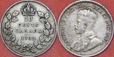 Fine 1933 Canada Silver 10 Cents
