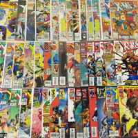 Huge 60 Issue X-Men Comic Book Lot Wolverine Cyclops & More Marvel Comics BBX17
