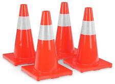 4x Set de Cones Pylones Barrage Trafic Signalisation PVC Hauteur 450mm Orange