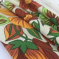 Hawaiian Cotton UNUSED CRISP Table Cloth FAB Bold RETRO Kitchen Decor