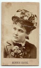 1860s Minnie Hauk, American opera singer, CDV original photo old