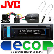 Renault Scenic 2003-05 JVC CD MP3 USB Car Stereo & Steering Wheel Interface Kit