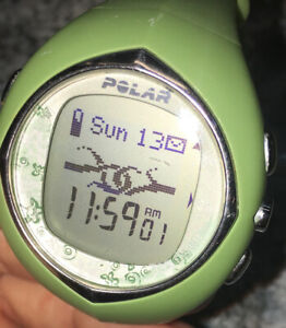 Polar Womans F6 Watch Lime Green With New Battery, WATCH ONLY. Nice!