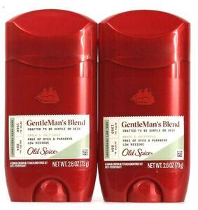 2 Old Spice 2.6 Oz GentleMan's Blend Amber & Driftwood Antiperspirant Exp 7/22