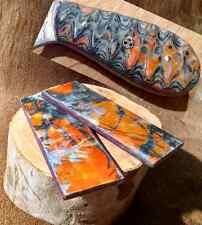 Blaze Orange True Timber MC2 Micarta Knife Scales Pair 5 1/2